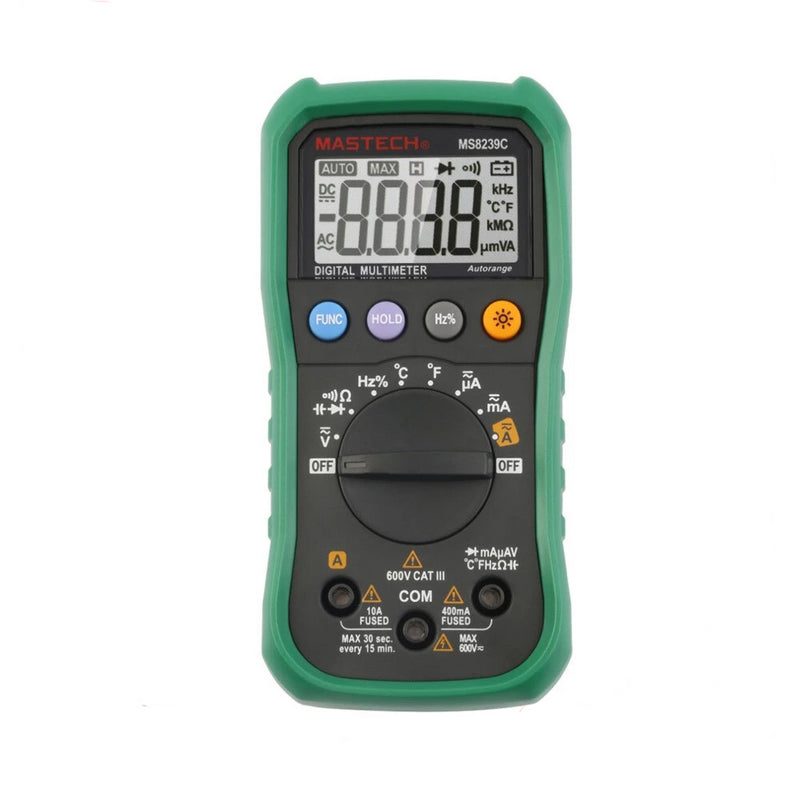 MASTECH Digital Multimeter MS8239C Handheld Auto Range AC DC Voltage Current Capacitance Frequency Temperature Tester