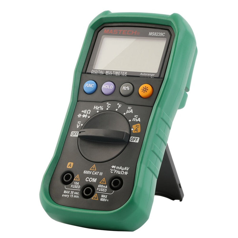 MASTECH Digital Multimeter MS8239C Handheld Auto Range Voltage Current Capacitance Frequency Temperature Tester