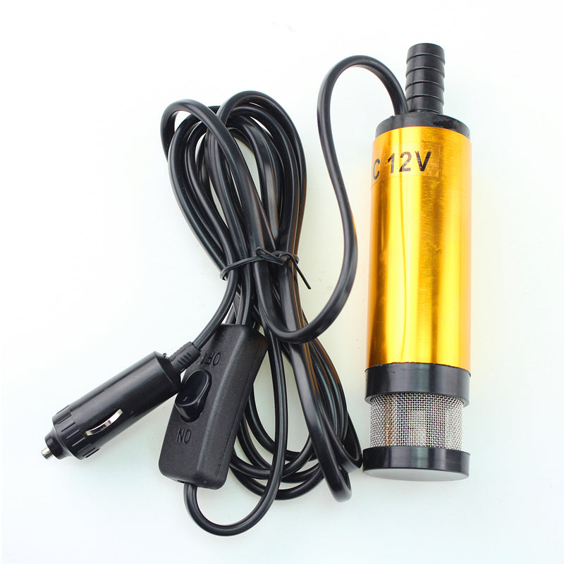 Mini Electric Water 12V 38MM Water Diesel Oil Pump Belt Filter Net Submersible Water Transfer Pump