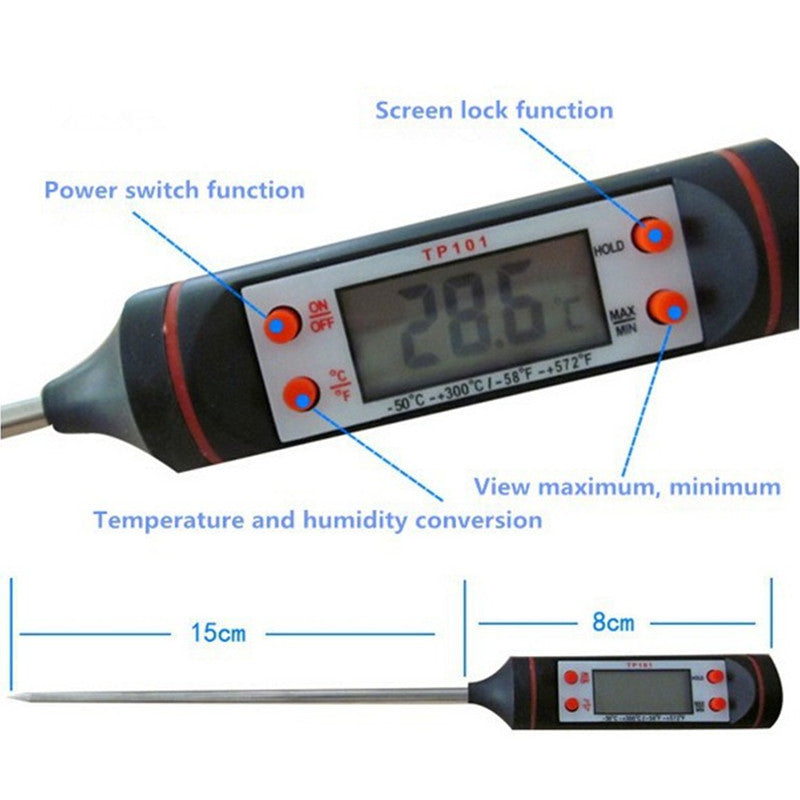 Portable TP101 LED Digital Car Air Conditioning Thermometer Temperature Detector with Probe Sensor Temperature instrument