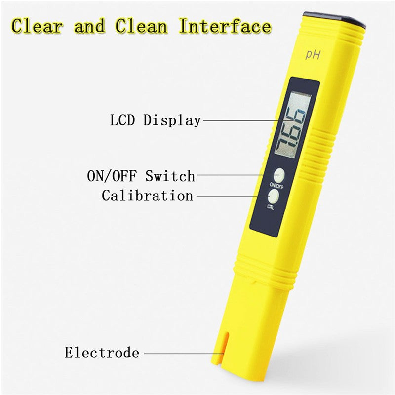 Protable Digital PH Meter Tester Car Analyzer Aquarium Pool Water Wine Urine LCD Pen Monitor Phmetro PH Water Measurement