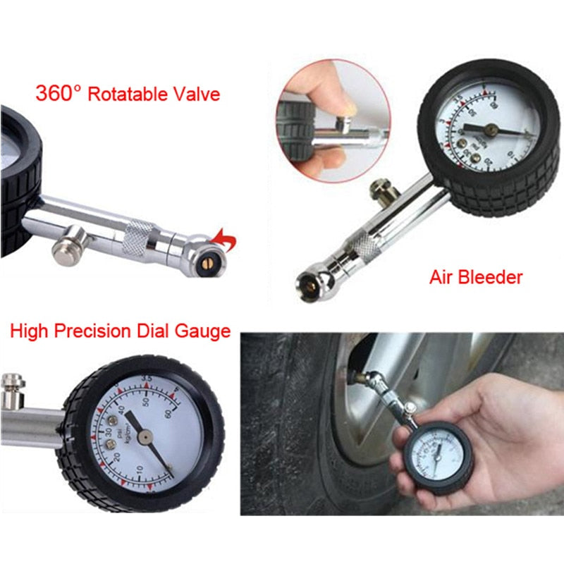 UNIT YD-6025 Accurate Auto Car Tire Pressure Gauge Meter Automobile Tyre Air Pressure Gauge Dial Meter Vehicle Tester 0-60 psi