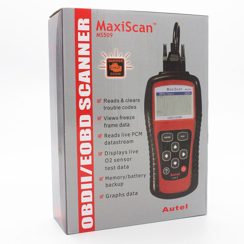 Vehicle Tool Car Code Reader Tester Autel MS509 OBDII Auto OBD2 Scanner Maxiscan MS509 Automotive Diagnostic Scanner