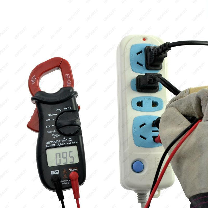 All-SUN EM306B Mini Digital Clamp Multimeter AC/DC Voltage Current Resistance Continuity Test with Buzzer Electronic Tester