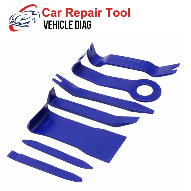 7pcs Plastic Trim Removal Tool Car Radio Panel Door Clip Dashboard Trim Tool Auto Car Removal Tool Herramientas Mecanicas