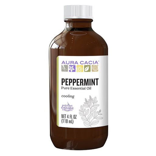 Peppermint (Pure Essential Oil) - (4.00 fl. oz. Bottle) - back-to-nature-usa