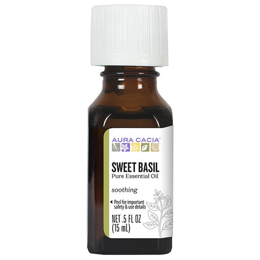 Sweet Basil (0.50 fl. oz. Bottle) - back-to-nature-usa