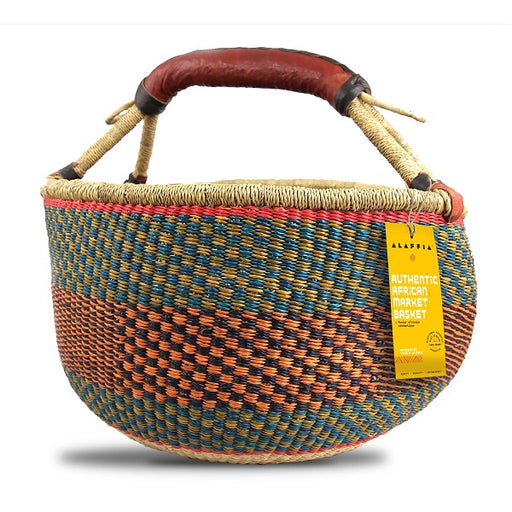 "Authentic African Market Basket (Fair Trade) - (15"" x 9"" x 14"") - back-to-nature-usa"