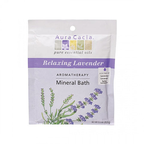 Lavender Mineral Bath - (2.50 oz. Packet) - back-to-nature-usa