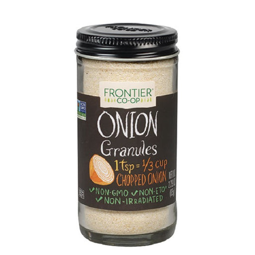 Onion, White (Granules) - Kosher - (2.29 oz. Bottle) - back-to-nature-usa