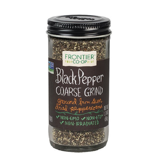 Pepper, Black (Coarse-Grind) - Kosher - (1.76 oz. Bottle) - back-to-nature-usa