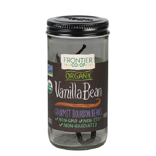 Vanilla Beans (Whole) - Kosher - ORGANIC - (1 Bean Pod/Bottle) - back-to-nature-usa