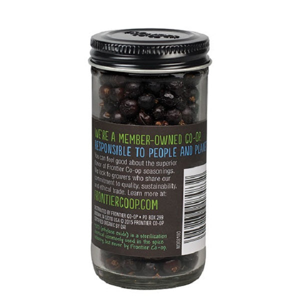 Juniper Berries (Whole) - Kosher - ORGANIC - (1.28 oz. Bottle) - back-to-nature-usa