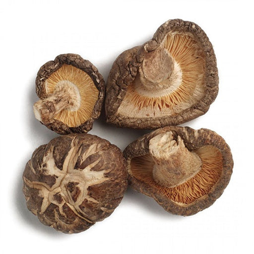 Shiitake Mushrooms (Whole) - Kosher - (0.50 lb.) - back-to-nature-usa