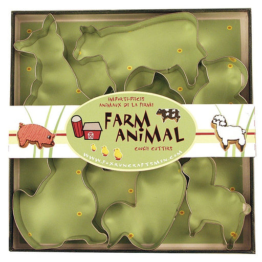 Cookie Cutter Set, Farm Animals - (7-Piece Set) - back-to-nature-usa