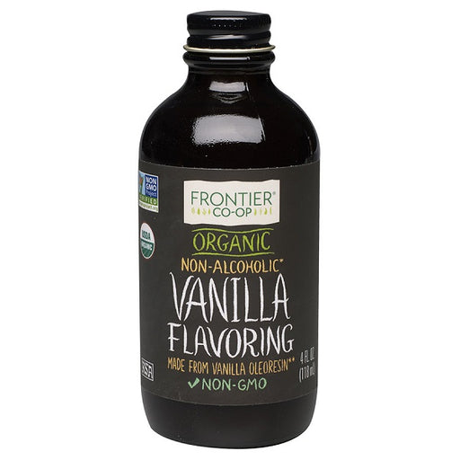 Vanilla Flavoring - Kosher - ORGANIC - (4.00 fl. oz. Bottle) - back-to-nature-usa
