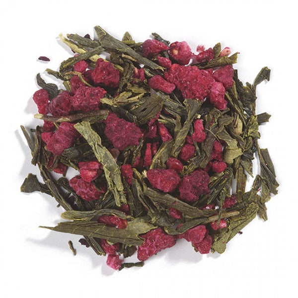 Green Tea with Fruit (Raspberry-Flavored) - ORGANIC - (1.00 lb.) - back-to-nature-usa