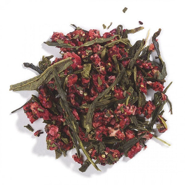 Green Tea with Fruit (Strawberry-Flavored) - ORGANIC - (1.00 lb.) - back-to-nature-usa