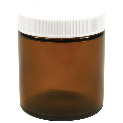 Wide Mouth Jar With Cap, Amber - 4.00 fl. oz. - (6 Count Package) - back-to-nature-usa