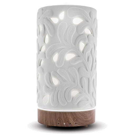 Rowan Vase White Ceramic Diffuser - back-to-nature-usa