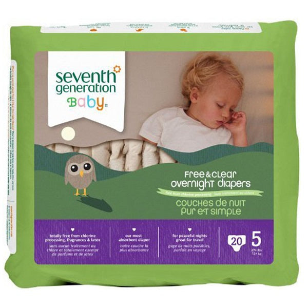 Overnight Diapers (Stage 5) (27+ lbs.) - (20 Count Package) - back-to-nature-usa