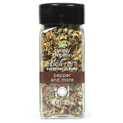 Spice Right® Pepper & More - Kosher - ORGANIC - (2.20 oz. Bottle) - back-to-nature-usa