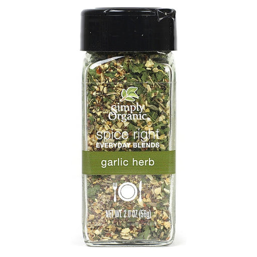 Spice Right® Garlic & Herb - Kosher - ORGANIC - (2.00 oz. Bottle) - back-to-nature-usa