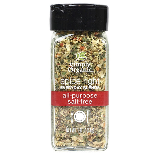 Spice Right® All-Purpose Blend (Salt-Free) - Kosher - ORGANIC - (1.80 oz. Bottle) - back-to-nature-usa