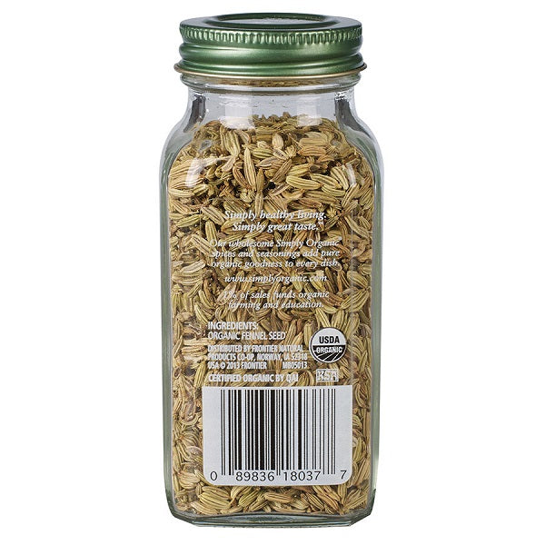 Fennel Seed (Whole) - Kosher - ORGANIC - (1.90 oz. Bottle) - back-to-nature-usa