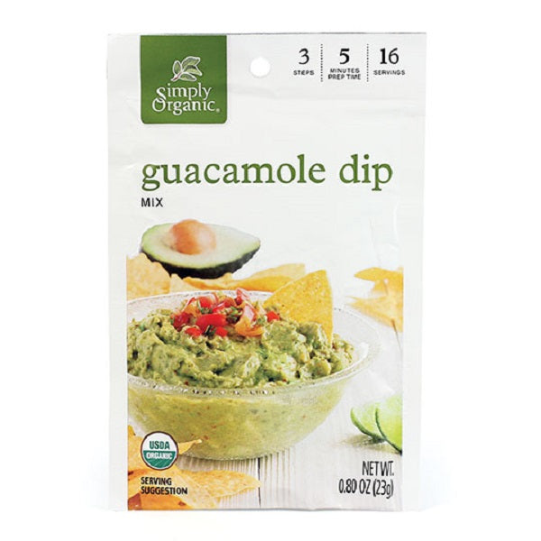 Guacamole Dip - Kosher - ORGANIC - (0.80 oz. Packet) - back-to-nature-usa