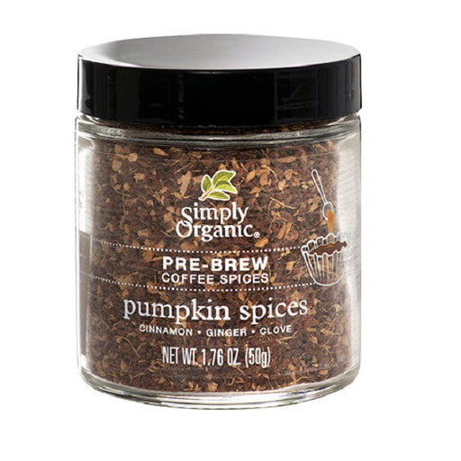 Pre-Brew Coffee Spice (Pumpkin Spices) - Kosher - ORGANIC - (1.76 oz. Jar) - back -to-nature-usa