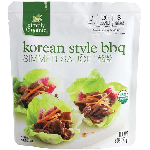 Korean BBQ Simmer Sauce - ORGANIC - (8.00 fl. oz. Pouch) - back-to-nature-usa