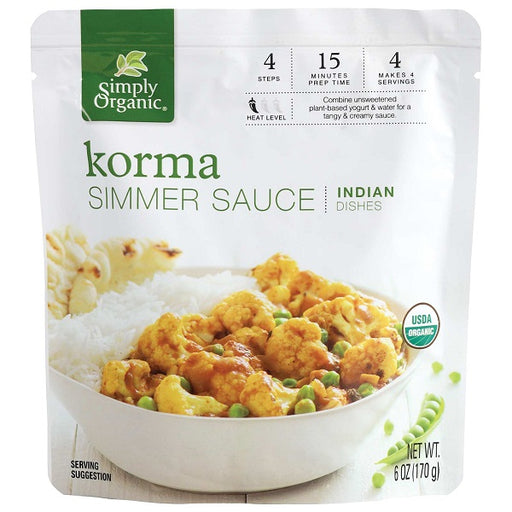 Korma Simmer Sauce - ORGANIC - (6.00 fl. oz. Pouch) - back-to-nature-usa