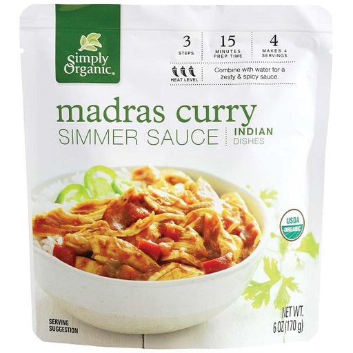 Madras Curry Simmer Sauce - ORGANIC - (6.00 fl. oz. Pouch) - back-to-nature-usa