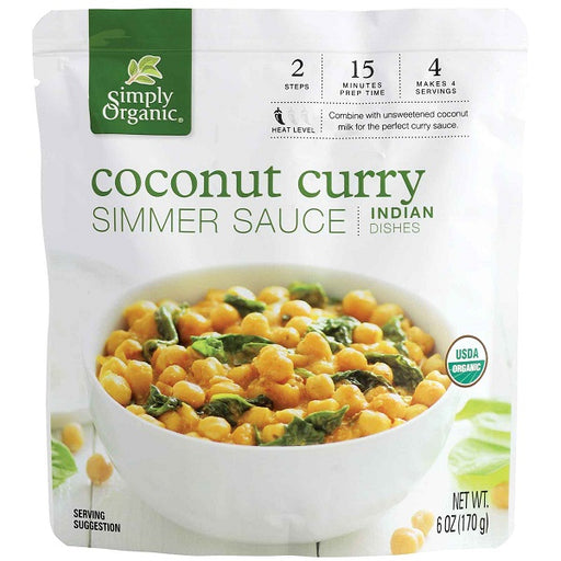 Coconut Curry Simmer Sauce - ORGANIC - (6.00 fl. oz. Pouch) - back-to-nature-usa