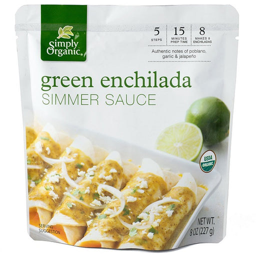 Green Enchilada Simmer Sauce - ORGANIC - (8.00 fl. oz. Pouch) - back-to-nature-usa