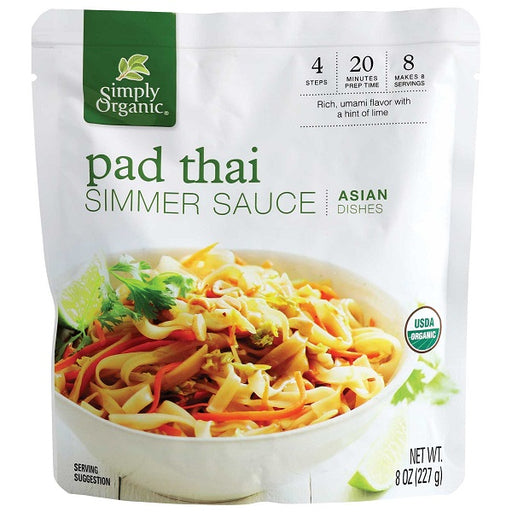 Pad Thai Simmer Sauce - ORGANIC - (8.00 fl. oz. Pouch) - back-to-nature-usa