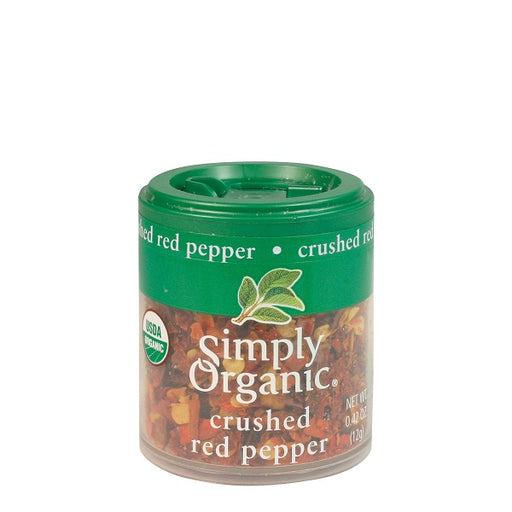 Red Pepper (Crushed) - Kosher - ORGANIC - (0.42 oz. Mini-Spice) - back-to-nature-usa