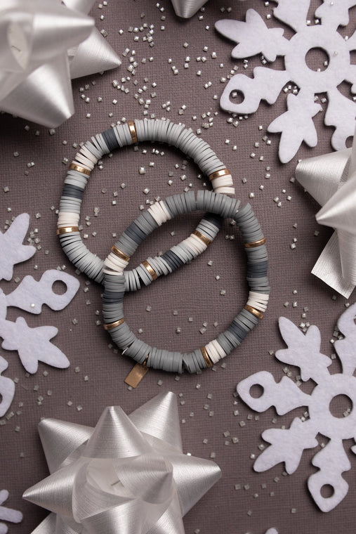 Stocking Stuffer Bracelet in Gray - Smith & Vena Online Boutique