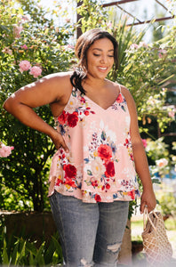 Natalie Floral Camisole - Blush - Smith & Vena Online Boutique