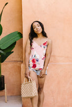 Load image into Gallery viewer, Natalie Floral Camisole - Blush - Smith & Vena Online Boutique