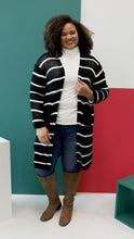 Load and play video in Gallery viewer, Janessa Striped Cardigan