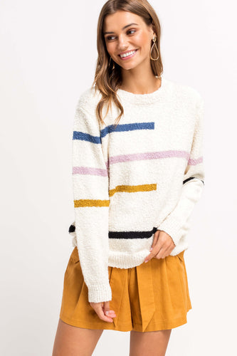 Jordan Stripe Sweater - Smith & Vena Online Boutique