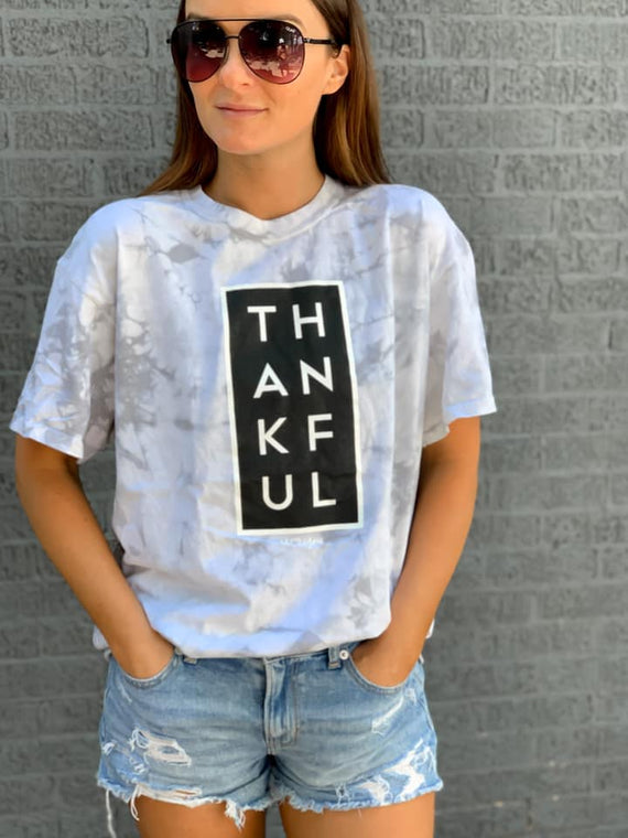Thankful Graphic Tee- Marble - Smith & Vena Online Boutique
