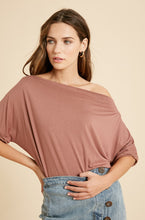 Load image into Gallery viewer, Trish Short Sleeve Dolman - Mauve - Smith & Vena Online Boutique