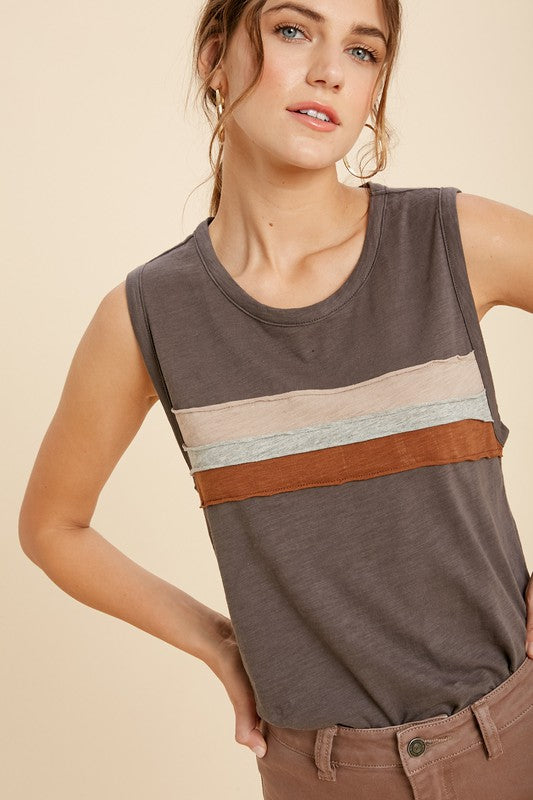 Marley Tank - Charcoal - Smith & Vena Online Boutique