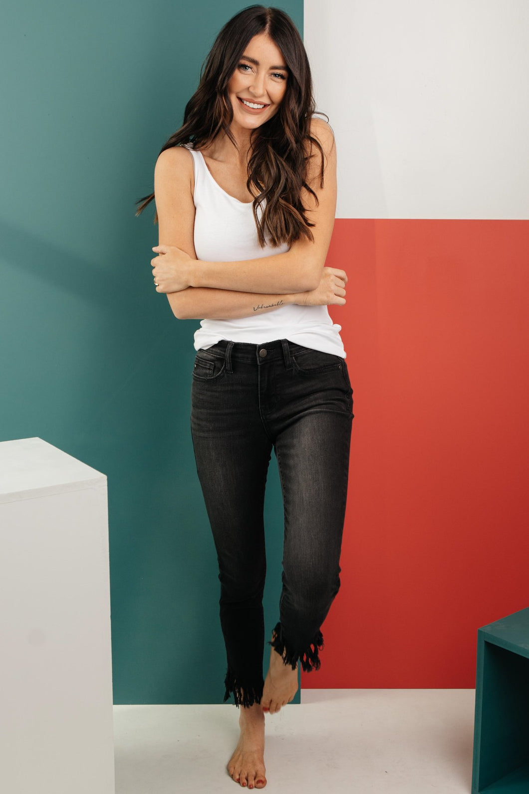 A Shred Of Confidence Black Jeans - Smith & Vena Online Boutique