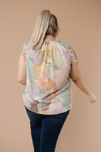 Abstract Pastel Blouse - Smith & Vena Online Boutique