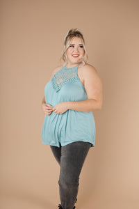 Just For Show Top In Aqua - Smith & Vena Online Boutique