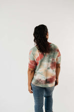 Load image into Gallery viewer, Waffle Knit Tie Dye Top In Sunrise - Smith & Vena Online Boutique